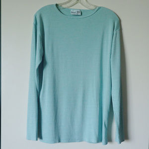 Michael Stars Powder Blue Long Sleeve Tee